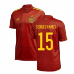 2020-2021 Spain Home Adidas Football Shirt (SERGIO RAMOS 15)