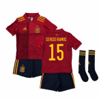 2020-2021 Spain Home Adidas Mini Kit (SERGIO RAMOS 15)