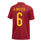 2020-2021 Spain Home Adidas Youth Kit (A INIESTA 6)