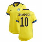 2020-2021 Sweden Home Adidas Womens Shirt (IBRAHIMOVIC 10)