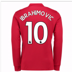 20Ibrahimovic 107-20Ibrahimovic 108 Man United Long Sleeve Home Shirt (Ibrahimovic 10)