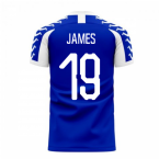 Merseyside 2020-2021 Home Concept Football Kit (Viper) (James 19)