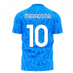 Napoli 1990s Home Concept Football Kit (Libero) (MARADONA 10)