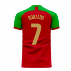 Portugal 2020-2021 Home Concept Football Kit (Fans Culture) (RONALDO 7)