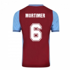 Score Draw Aston Villa 1982 Champions Of Europe Retro Football Shirt (Mortimer 6)