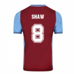 Score Draw Aston Villa 1982 Champions Of Europe Retro Football Shirt (Shaw 8)