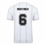 Score Draw Aston Villa 1982 Euro Final Retro Football Shirt (Mortimer 6)