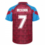 Score Draw Aston Villa 1990 Retro Football Shirt (McGinn 7)