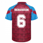 Score Draw Aston Villa 1990 Retro Football Shirt (Richardson 6)