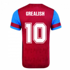 Score Draw Aston Villa 1992 Retro Football Shirt (Grealish 10)