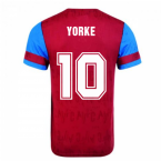 Score Draw Aston Villa 1992 Retro Football Shirt (Yorke 10)
