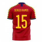 Spain 2020-2021 Home Concept Football Kit (Libero) (SERGIO RAMOS 15)