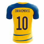 Sweden 2020-2021 Home Concept Football Kit (Airo) (IBRAHIMOVIC 10)