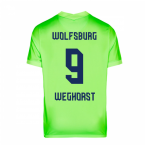 2020-2021 VFL Wolfsburg Home Nike Football Shirt (WEGHORST 9)