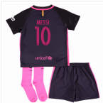2016-17 Barcelona Away Little Boys Mini Kit (With Sponsor) (Messi 10)