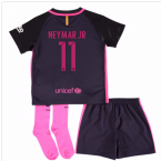 2016-17 Barcelona Away Little Boys Mini Kit (With Sponsor) (Neymar JR 11)