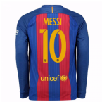 2016-17 Barcelona Home Long Sleeve Shirt (Messi 10)