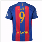 2016-17 Barcelona Sponsored Home Shirt (Suarez 9) - Kids