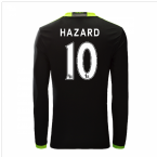 2016-17 Chelsea Away Long Sleeve Shirt (Hazard 10)