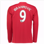 2016-17 Man United Home Long Sleeve Shirt (Ibrahimovic 9)