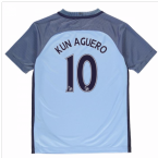 2016-17 Manchester City Home Shirt (Kun Aguero 10)