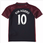 2016-17 Manchester City Away Mini Kit (Kun Aguero 10)