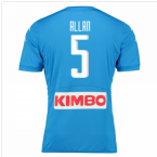 2016-17 Napoli Authentic Home Shirt (Allan 5)