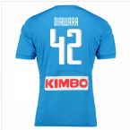 2016-17 Napoli Authentic Home Shirt (Diawara 42)