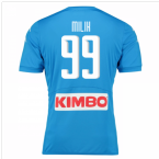 2016-17 Napoli Authentic Home Shirt (Milik 99)