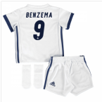 2016-17 Real Madrid Home Baby Kit (Benzema 9)