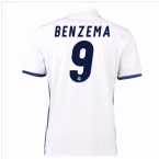 2016-17 Real Madrid Home Shirt (Benzema 9) - Kids
