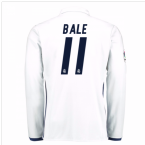 2016-17 Real Madrid Home Shirt Long Sleeve (Bale 11) - Kids