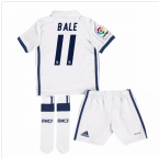 2016-17 Real Madrid Kids Home Mini Kit (Bale 11)