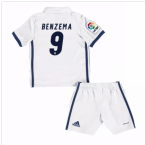 2016-17 Real Madrid Kids Home Mini Kit (Benzema 9)