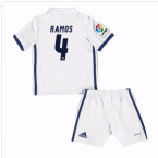 2016-17 Real Madrid Kids Home Mini Kit (Ramos 4)