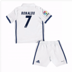 2016-17 Real Madrid Kids Home Mini Kit (Ronaldo 7)