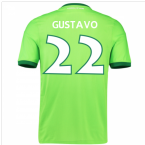 2016-17 Wolfsburg Home Shirt (Gustavo 22) - Kids