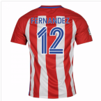 2016-17 Atletico Madrid Home Shirt (Fernandez 12) - Kids