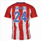 2016-17 Atletico Madrid Home Shirt (Gimenez 24) - Kids