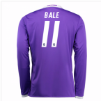 2016-17 Real Madrid Away Longsleeve Shirt (Bale 11) - Kids