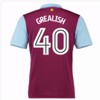 2016-17 Aston Villa Home Shirt (Grealish 40) - Kids