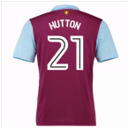 2016-17 Aston Villa Home Shirt (Hutton 21) - Kids