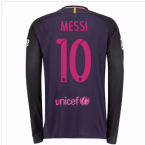 2016-17 Barcelona Away Long Sleeve Shirt (Messi 10)