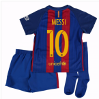 2016-17 Barcelona Home Mini Kit Shirt (Messi 10)
