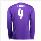 2016-17 Real Madrid Away Longsleeve Shirt (Ramos 4)