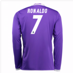 2016-17 Real Madrid Away Longsleeve Shirt (Ronaldo 7) - Kids