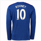 2016-17 Man United Away Long Sleeve Shirt (Rooney 10) - Kids