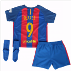 2016-17 Barcelona Home Baby Kit (Suarez 9)