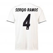 2018-19 Real Madrid Home Football Shirt (Sergio Ramos 4)