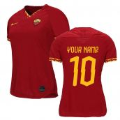 2019-2020 Roma Home Nike Ladies Shirt (Your Name)